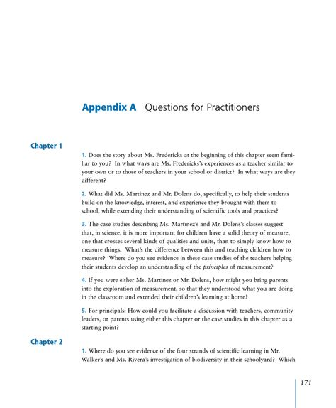 appendix  questions  practitioners ready set