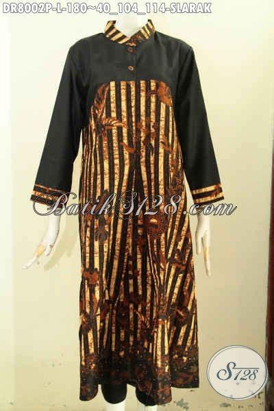 model dress batik elegan modern  design simple lengan