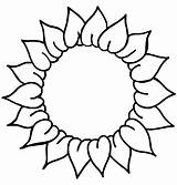 Sunflower Drawing Coloring Clipart Pages Preschoolers Line Flower Clip Head Template Drawings Pattern Cliparts Library Colouring Traceable Cute Sunflowers Easy sketch template