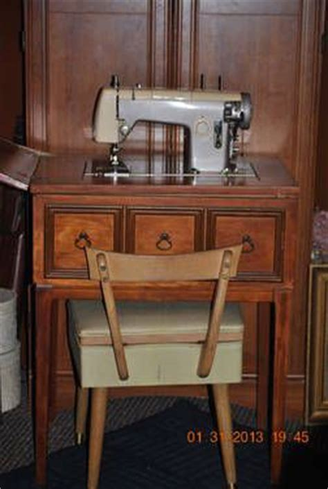 Vintage Sears Kenmore Sewing Machine In Cabinet by Sears Kenmore Sewing Machine And Cabinet Model 1120
