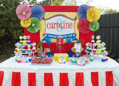 Carnival Birthday Decorations - country fair birthday and carnival ideas that