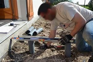 Terrasse Bois Sur Plot Beton : pose de terrasse en bois sur plot beton ~ Premium-room.com Idées de Décoration