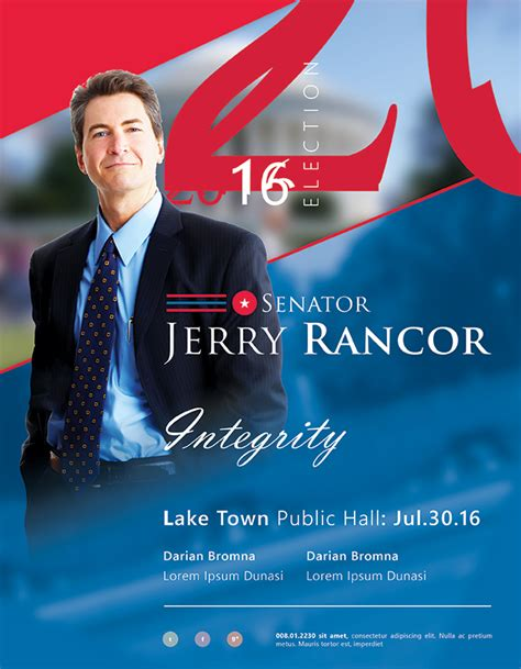 Election Brochure Template by Best Political Flyer Templates Seraphimchris Graphic