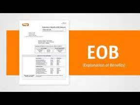 An explanation of benefits is the insurance company's written explanation regarding a claim, showing what they paid and what the client must pay. Understanding your Explanation of Benefits (EOB) statement ...