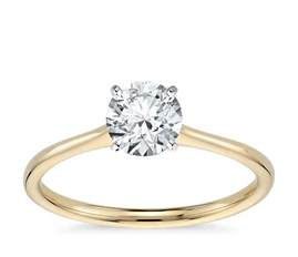 solitaire yellow gold engagement rings solitaire engagement ring in 18k yellow gold blue nile