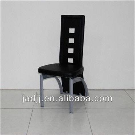 a36p modern black high back leather metal chairs for