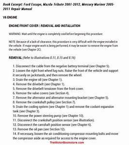 Ford Escape  Mazda Tribute  Mercury Mariner Repair Manual