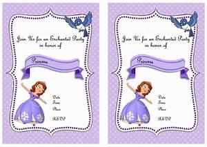 Sofia the first birthday invitations birthday printable for Sofia the first free invitation templates
