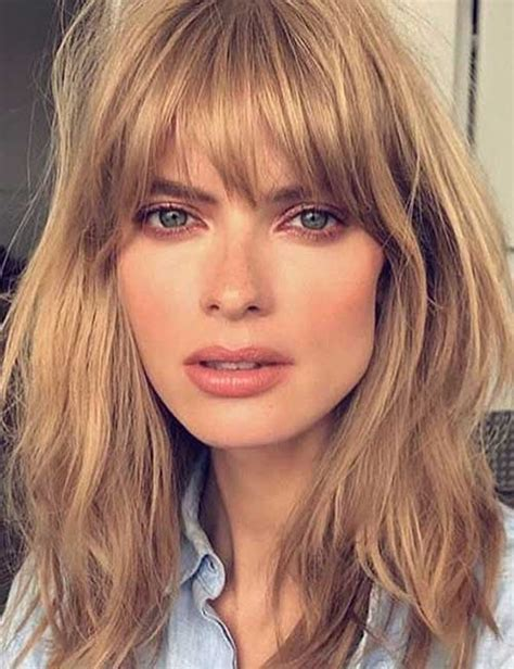 50 Best Long Hair With Bangs Looks For Women 2019
