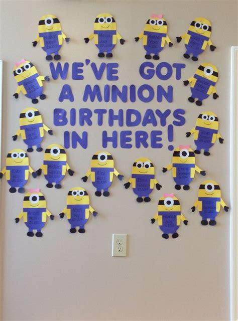 minion birthday wall minions birthday classroom