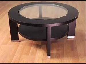alta 40 inch round glass coffee table by armen living With 40 inch round glass coffee table