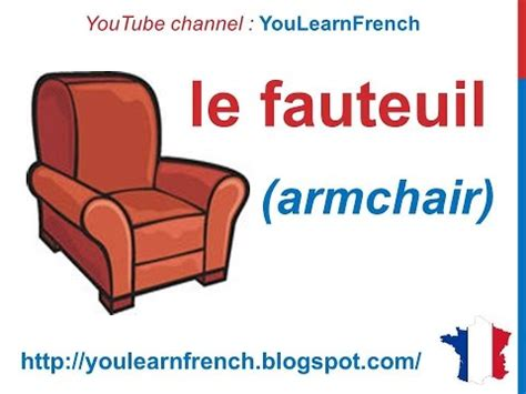 French Lesson 88  Furniture In French Vocabulary Les