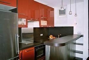 Merveilleux petite cuisine americaine avec bar 3 bar for Roche bobois salle À manger pour petite cuisine Équipée