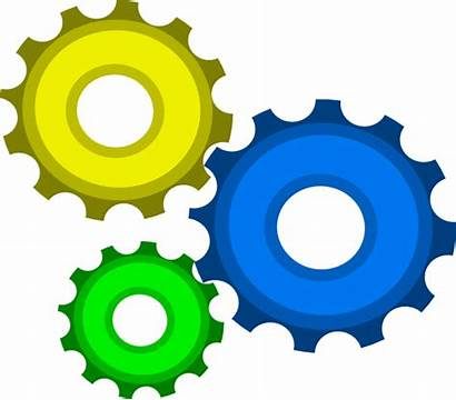 Gears Gear Clipart Three Clip Colorful Combo