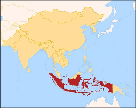 simple indonesia map simple map  indonesia south