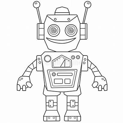 Robot Coloring Bambini Libro Colorazione Kinder Vecteur