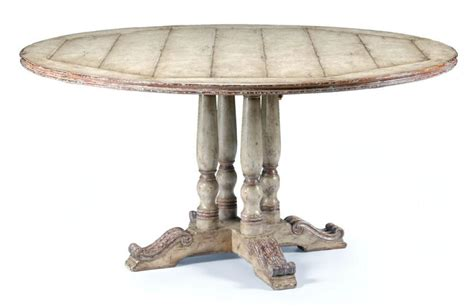 high round dining table furniture high painted round dining table 60 92 quot
