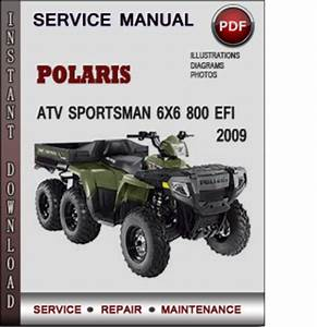 Polaris Atv Sportsman 6x6 800 Efi 2009 Factory Service Repair Manua