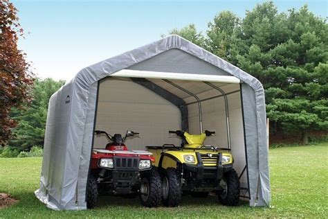 portable shade sheds shelterlogic 12x12x8 gray storage shed portable garage