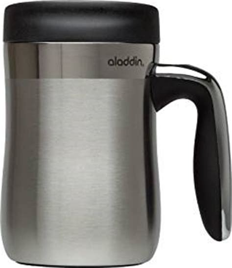 Amazon.com   Aladdin Essential Stainless Steel Insulated Desktop Mug 16oz, Black: Insulated Mugs