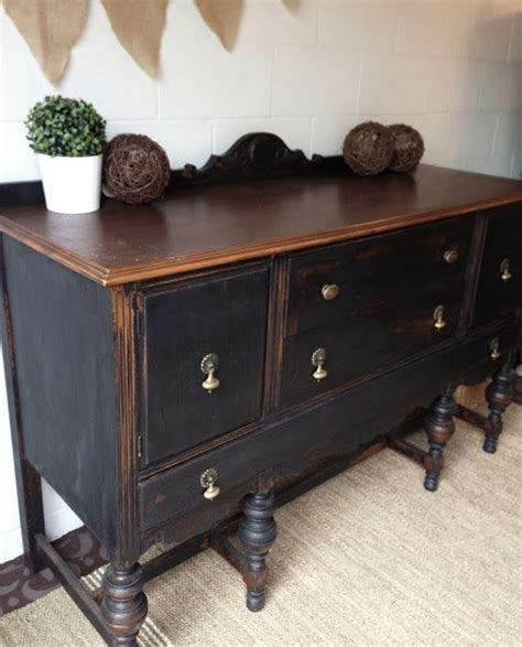 Repurposed Sideboard by 25 Best Ideas About Black Buffet On Black
