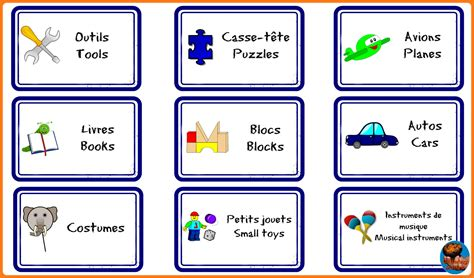 Bilingual Frenchenglish Playroom Labels To Organized All
