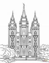 Lake Salt Temple Coloring Templo Line Colorir Printable Lds Dibujos Nauvoo Desenhos Imprimir Clipart Saltlake Colorironline Supercoloring Birijus Categorias sketch template