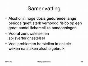 Lever herstel na alcohol