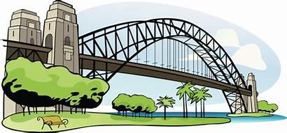 Bridge Sydney Harbour Clipart Harbor Illustration Clip