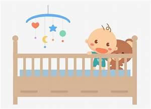Cuna de madera de dibujos animados, Cuna, La Cama De Los Niños, La Cama PNG Image para Descarga