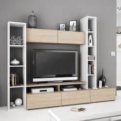 television pour chambre meuble tv blanc avec rangement mobilier design