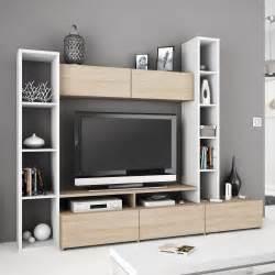 meuble tv blanc avec rangement mobilier design With petite tele pour chambre