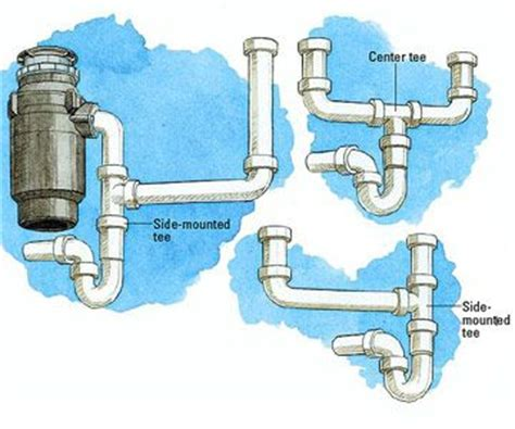 kitchen double sink  garbage disposal plumbing diagram