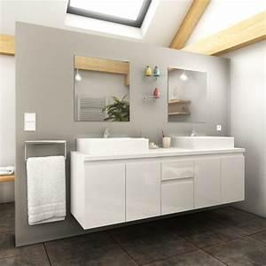 Meuble Salle De Bain 150 Cm : ensemble meuble salle de bain cologne 150cm blanc ~ Teatrodelosmanantiales.com Idées de Décoration