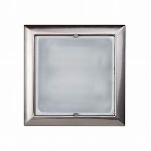 Square recessed ceiling light satin chrome from litecraft