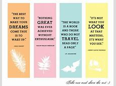 Free Printable Inspirational Bookmarks Printable Pages