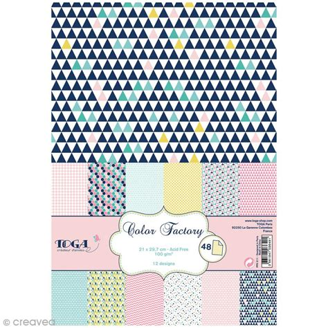 vente de cuisine en ligne papier scrapbooking toga color factory géométrique