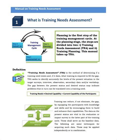 sample training  analysis template  documents
