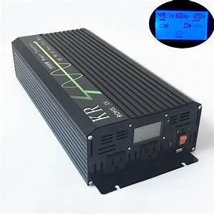 Solar Inverter 2000w 48v To 120v 60hz Off Grid Pure Sine Wave Power Inverter Lcd