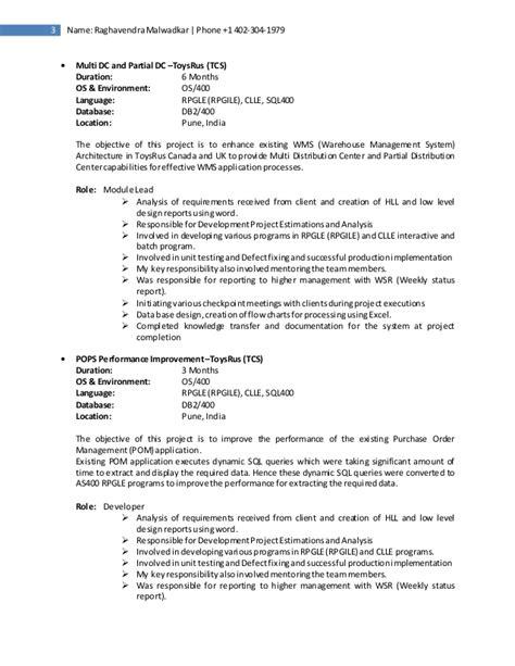 resume raghavendra malwadkar