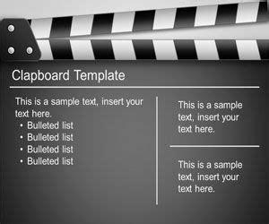 clapboard powerpoint template  powerpoint