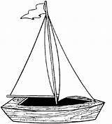 Coloring Boat Sailboat Printable Yacht Sail Coloring4free Ship Template Cliparts Colouring Sailing Clipart Wind Simple Preschool Colorng Uses Outline Toddler sketch template