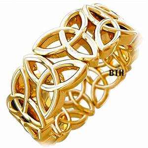gold tone trinity knot design celtic stainless steel mens With wedding rings celtic design