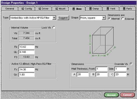 Speaker Cabinet Design Software Free by Bassbox Lite