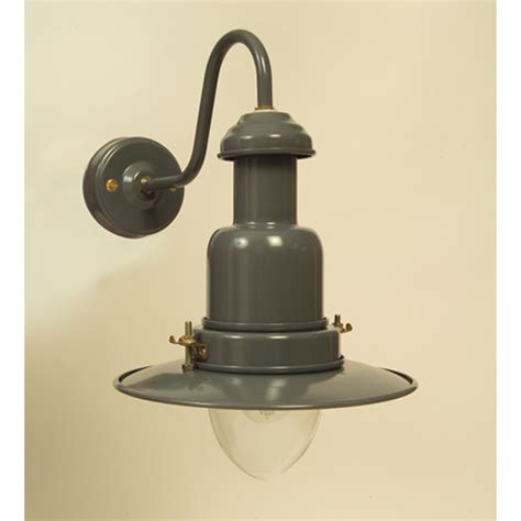 grey external fisherman s wall light