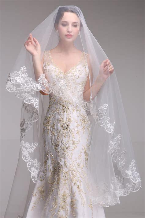 Italian Lace Bridal Veils Designs 2018 For Wedding Day