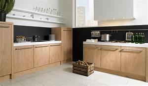 cuisine moderne chene le bois chez vous With refaire cuisine en bois