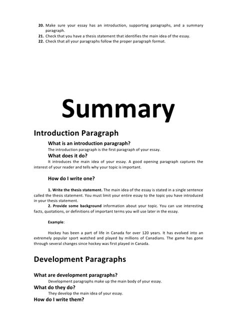 How To Write A Summary Of An Essay by Essay Intro Devlp Concl