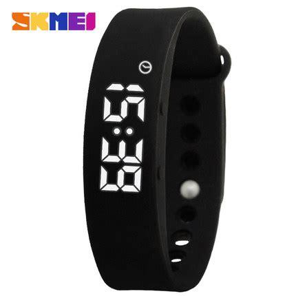 Jam Tangan Gelang Led Sporty Murah skmei jam tangan led gelang fitness tracker w05 black