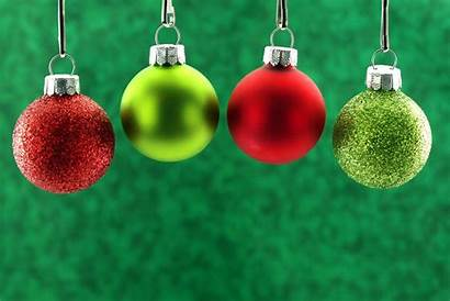 Christmas Background Scenery Wallpapers Holidays Bulbs Winter
